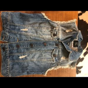 2/$20 BDG Denim Jean distressed Vest punk